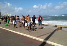 Banhista acaba de se afogar na praia de Amaralina, em Salvador.