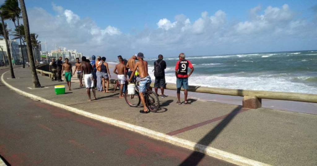 Photo of Banhista acaba de se afogar na praia de Amaralina, em Salvador