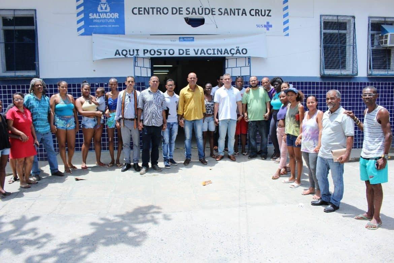 Photo of Movimento em defesa da região do Nordeste de Amaralina realiza visita ao Posto Saúde da Santa Cruz