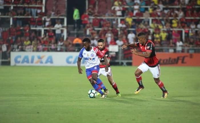 Bahia perde para o Flamengo de goleada no Rio