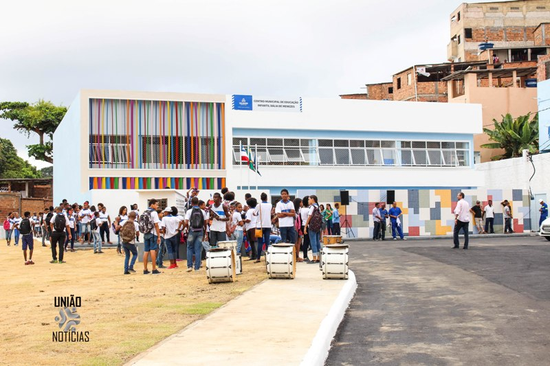 Photo of FOTOS: Prefeito inaugura Creche Escola Dália de Menezes no bairro da Santa Cruz