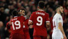 Salah e Firmino brilham em goleada do Liverpool sobre a Roma pela Champions League