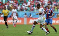CASTIGO Bahia joga bem, mas São Paulo empata no fim