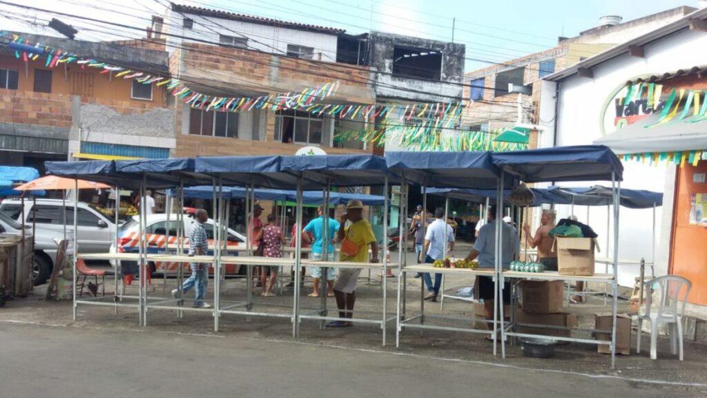 Photo of Feira no Nordeste de Amaralina recebe barracas padronizadas