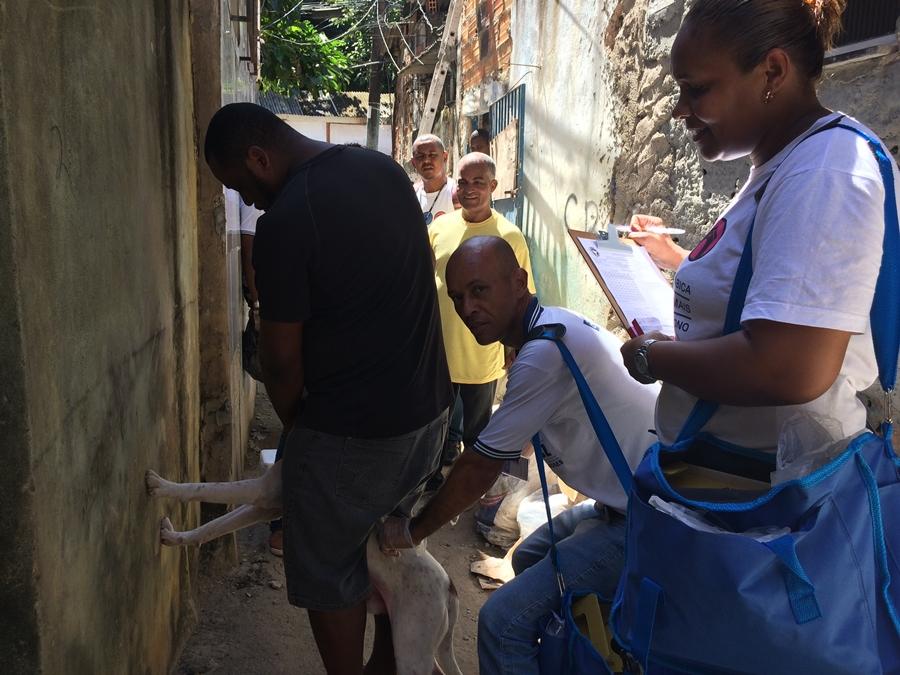 Photo of Agentes comunitários de Saúde realizam atendimentos a população de forma provisória no colégio Artur de Sales em Santa Cruz