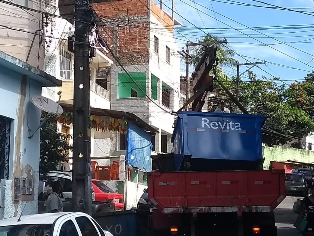 Photo of Após matéria divulgada pelo União Notícias prefeitura troca caixa de lixo na Santa Cruz