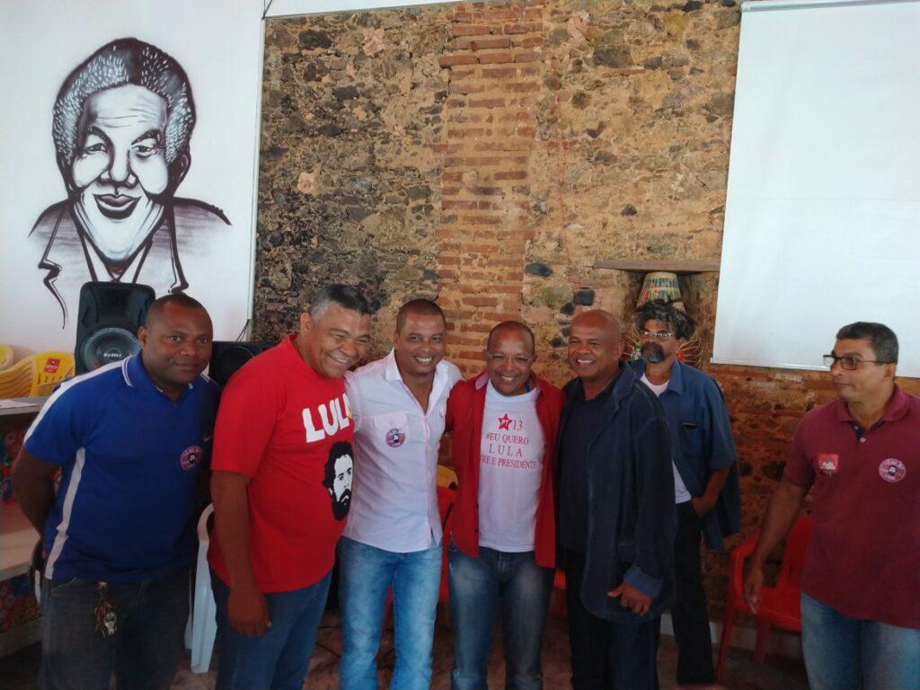 Photo of Vereador Moisés Rocha Junto e Misturado com Suíca e Valmir Assunção reunidos com lideranças de Salvador