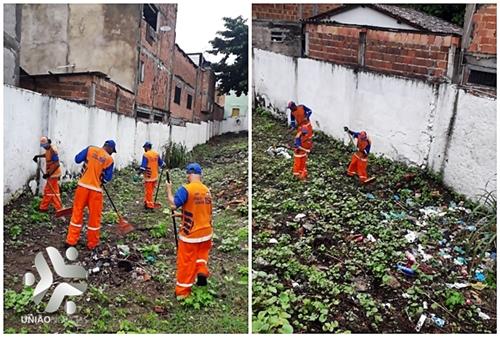 Photo of Prefeitura realiza serviço de limpeza urbana na área externa da Creche Dália de Menezes em Santa Cruz