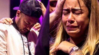 Photo of Irmã de Neymar cai vai aos prantos em culto com o jogador; assista