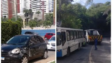 Photo of Trânsito é liberado após retirada de ônibus que colidiu com carro na ladeira da Santa Cruz