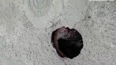 Photo of [Vídeo] Buraco causa prejuízos a motoristas e gera queixas de moradores no bairro da Santa Cruz