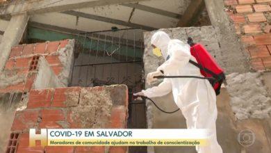 """Photo of Ação de limpeza contra o coronavírus nas ruas do Nordeste de Amaralina ganha destaque no """"Jornal Hoje"""""""